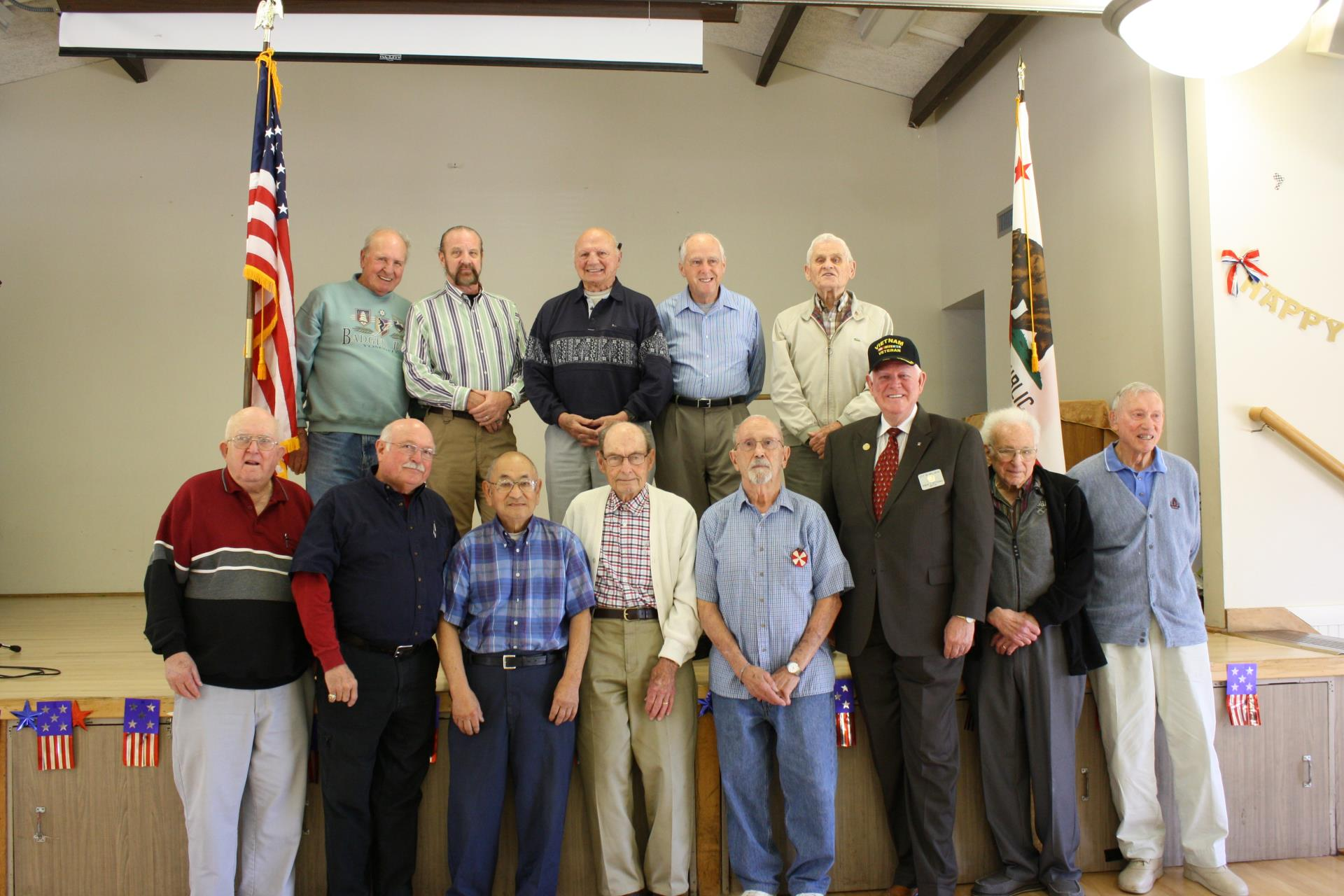 Veterans are honored at the monthly Senior Luncheon.