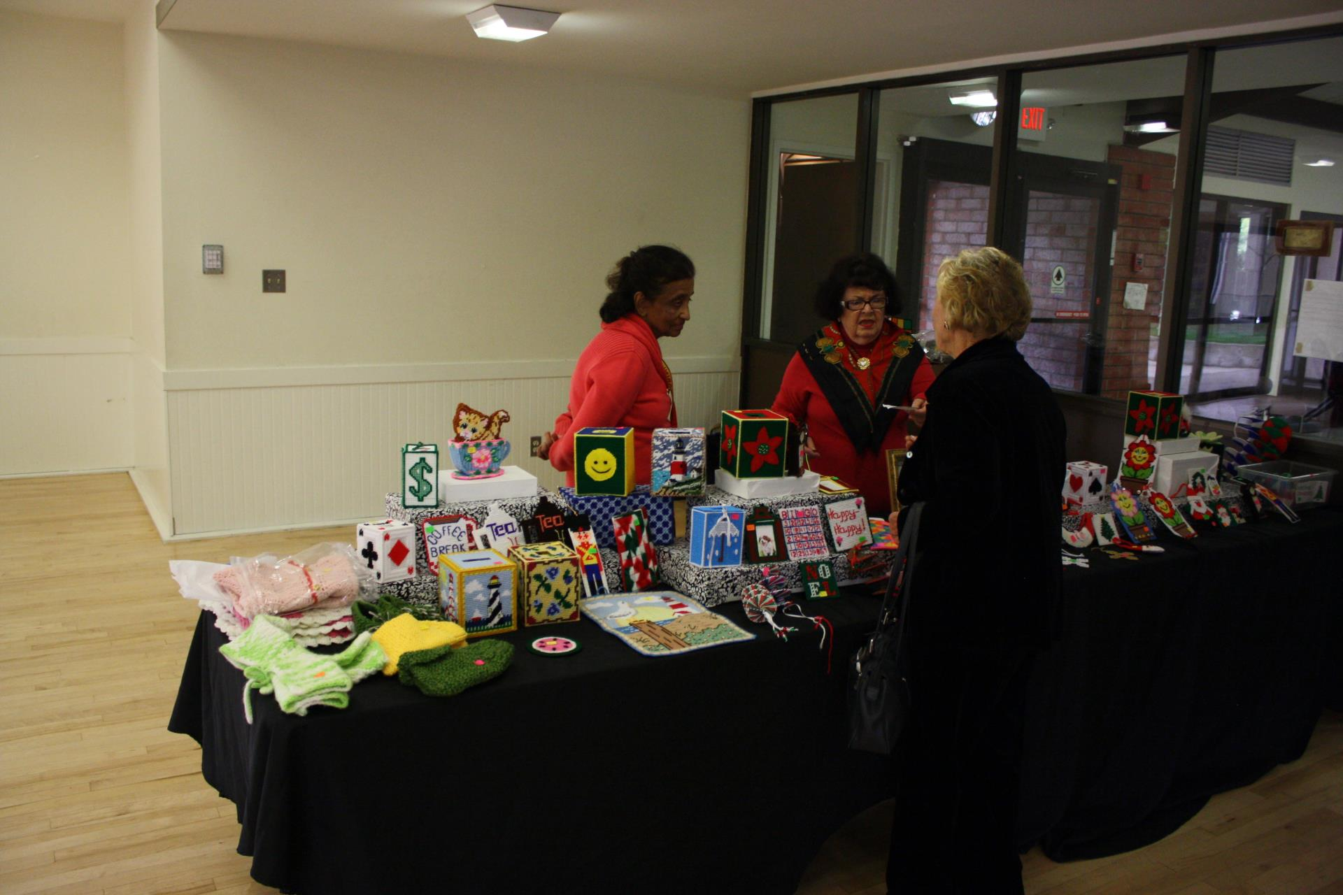 The Senior Boutique Club displays items for sale.