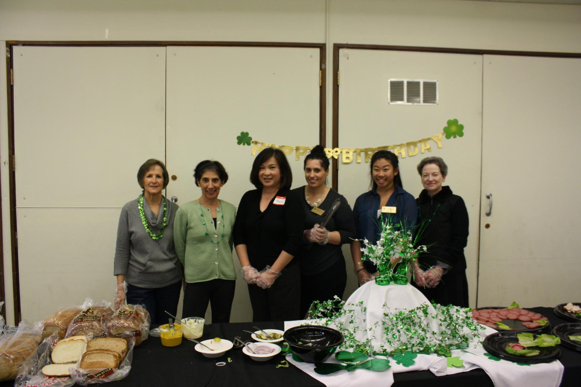 A huge THANK YOU to our volunteers who serve at monthly Senior Luncheons!