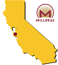 Millbrae's Location in California