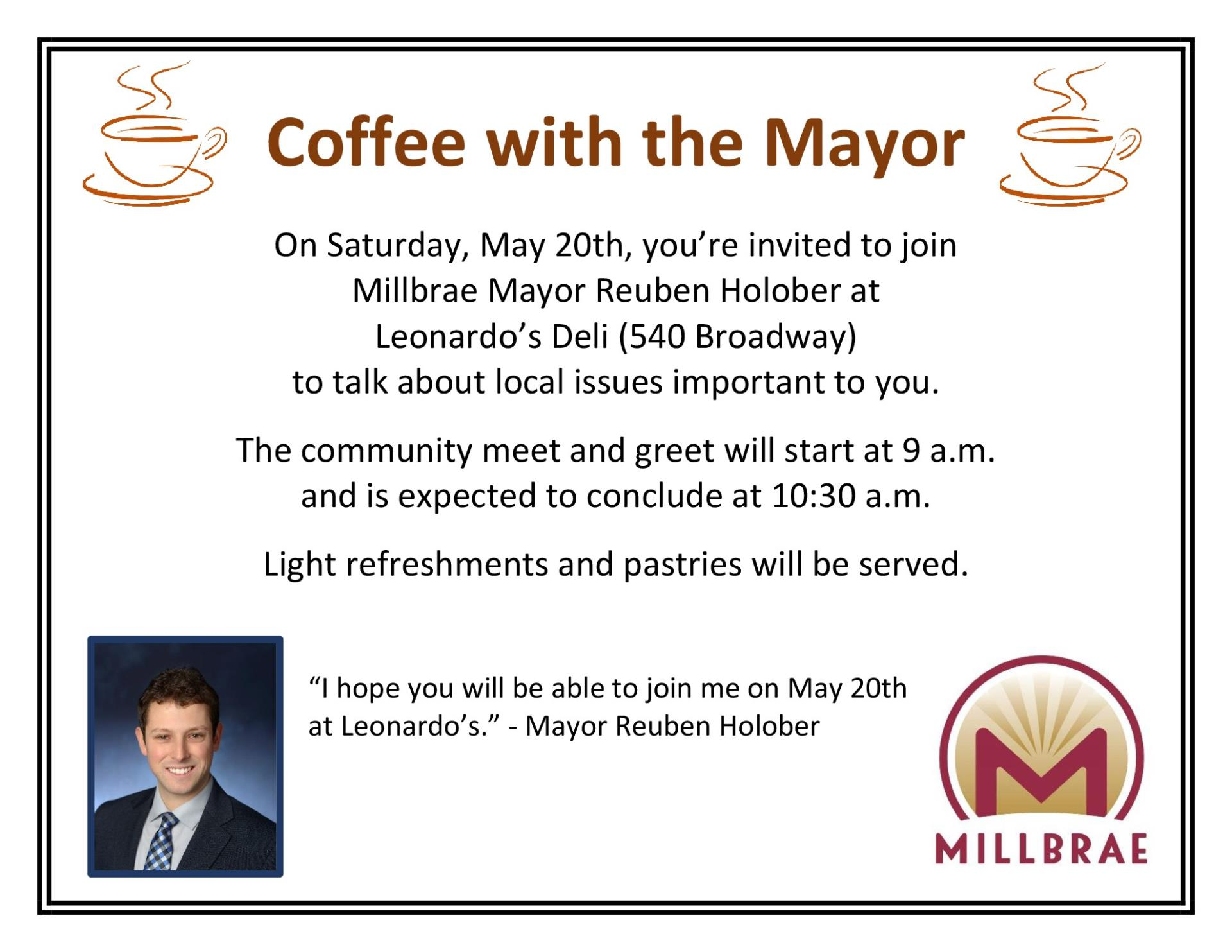 Coffee with the Mayor Flier