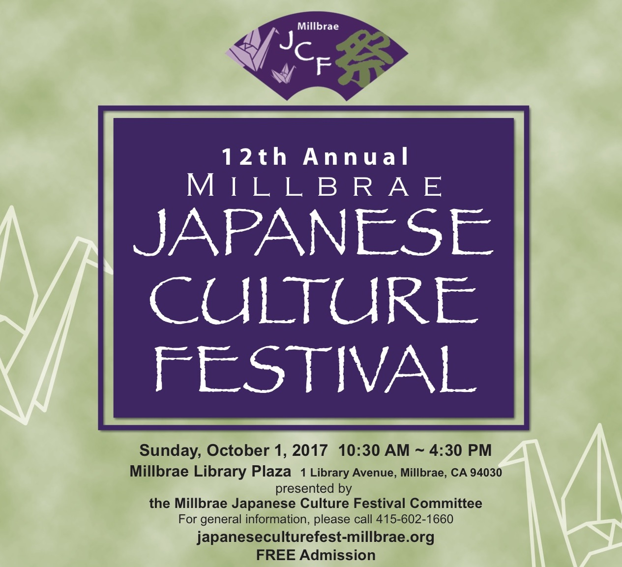 12th Annual Japanese Culture Festival - Sunday, October 1