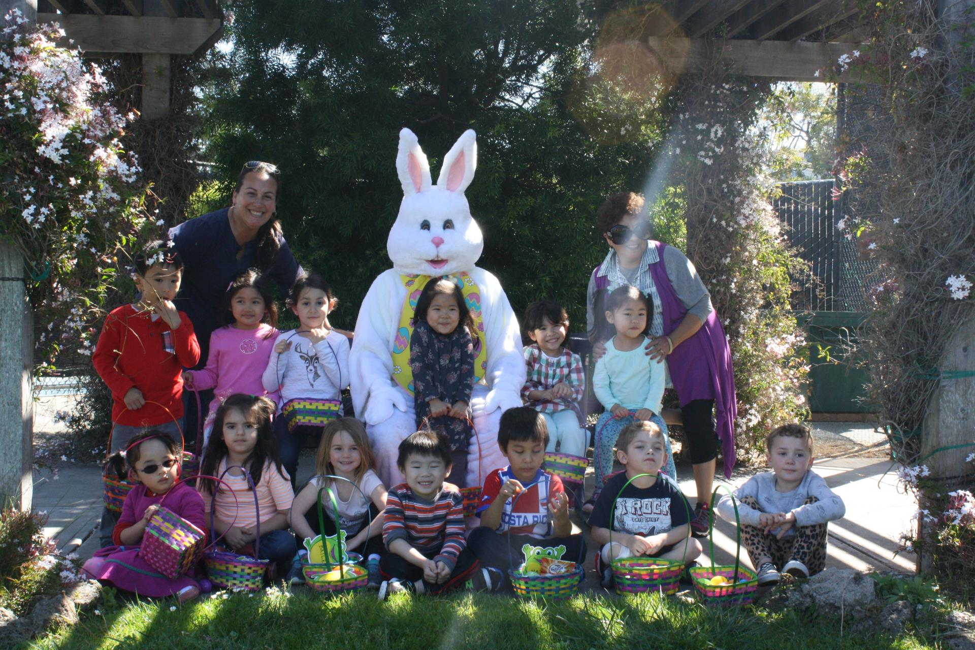 Easter Bunny vists Adventures in Learning