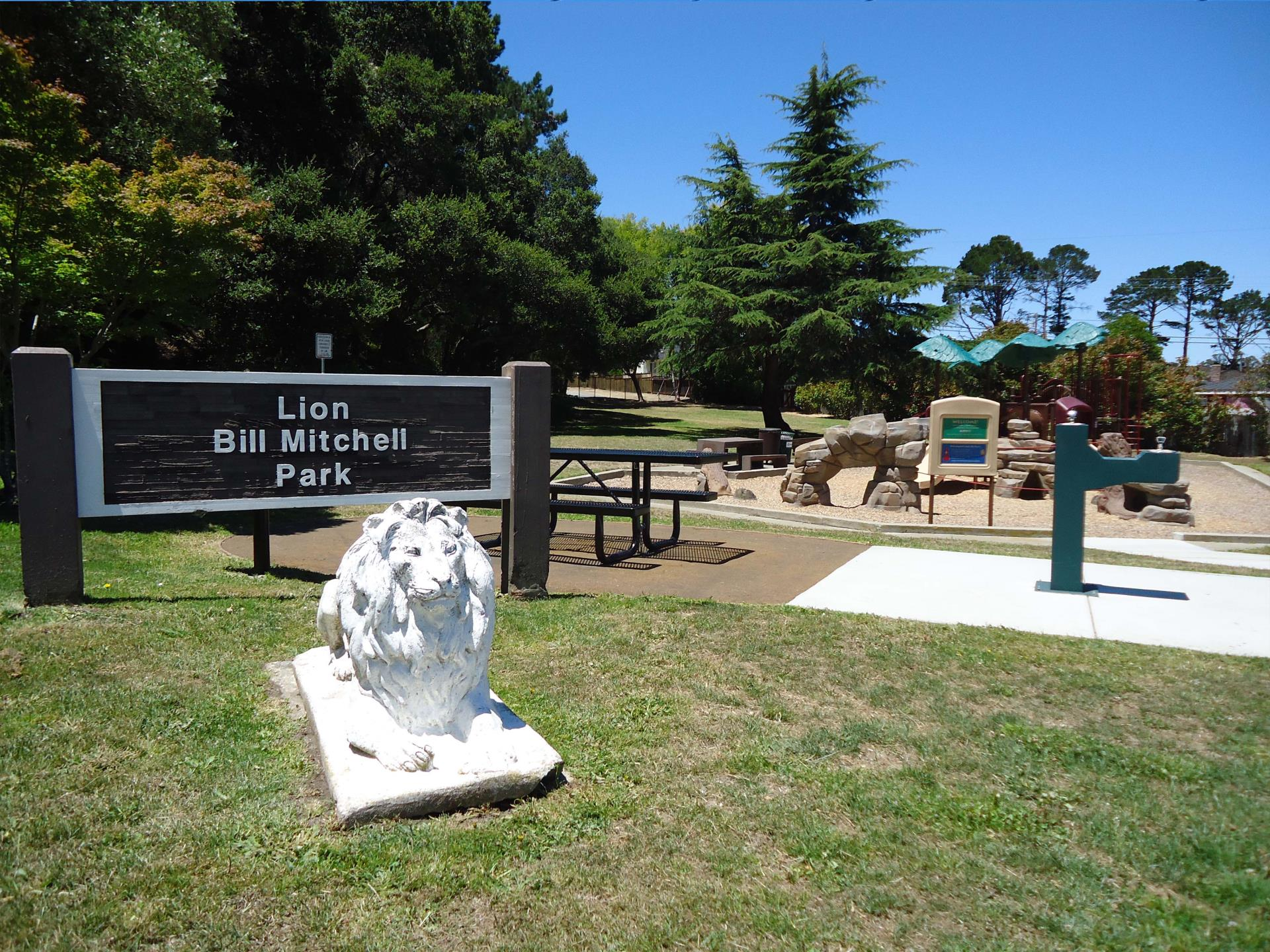 "Lion ""Bill Mitchell"" Park Sign"