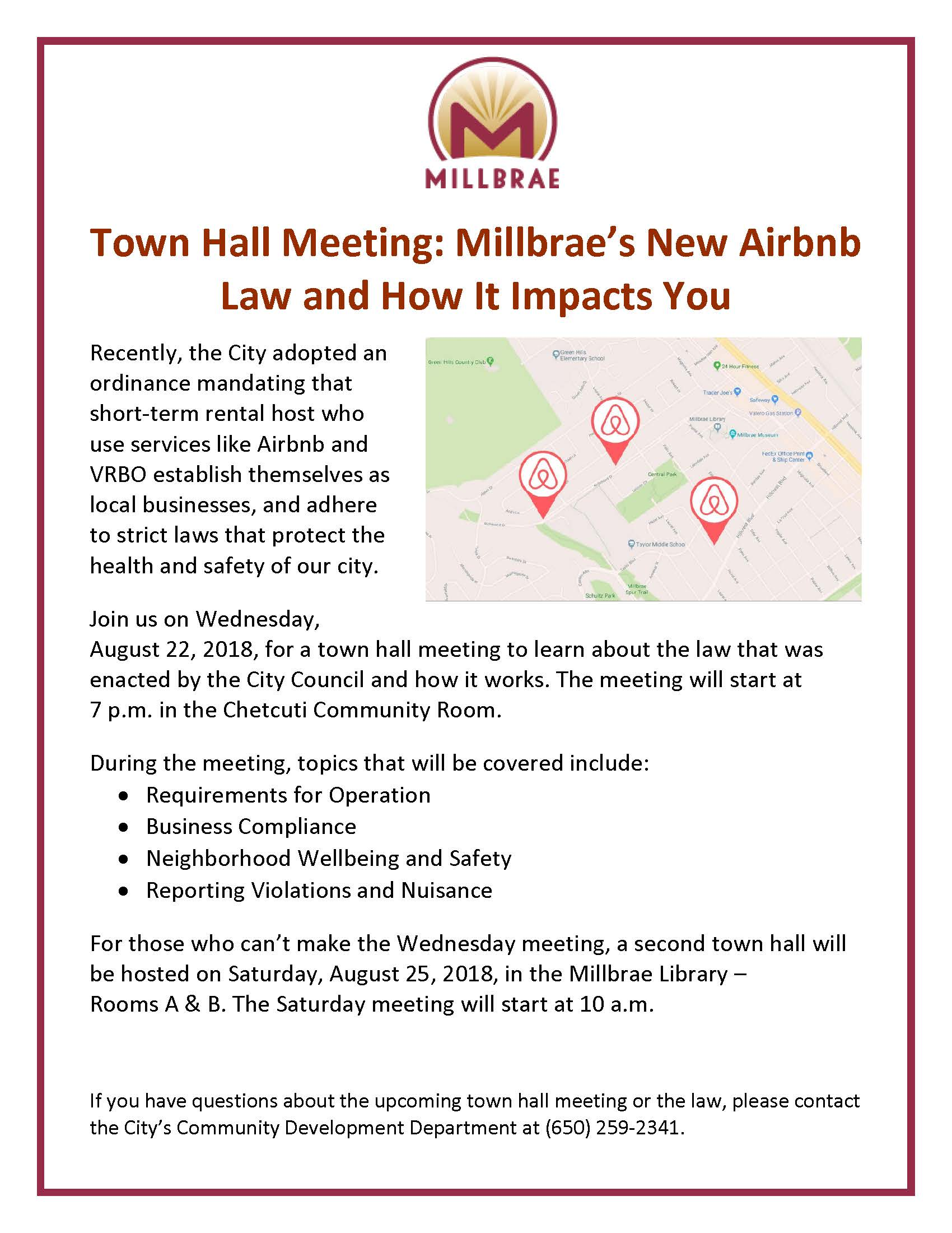 Airbnb Town Hall Flyer