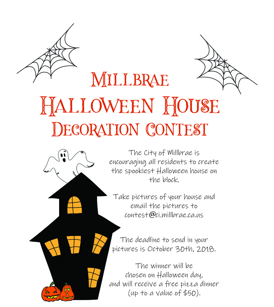 Millbrae Halloween House Contest Flyer v2