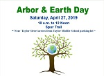 Arbor and Earth Day 2019: Call for Volunteers