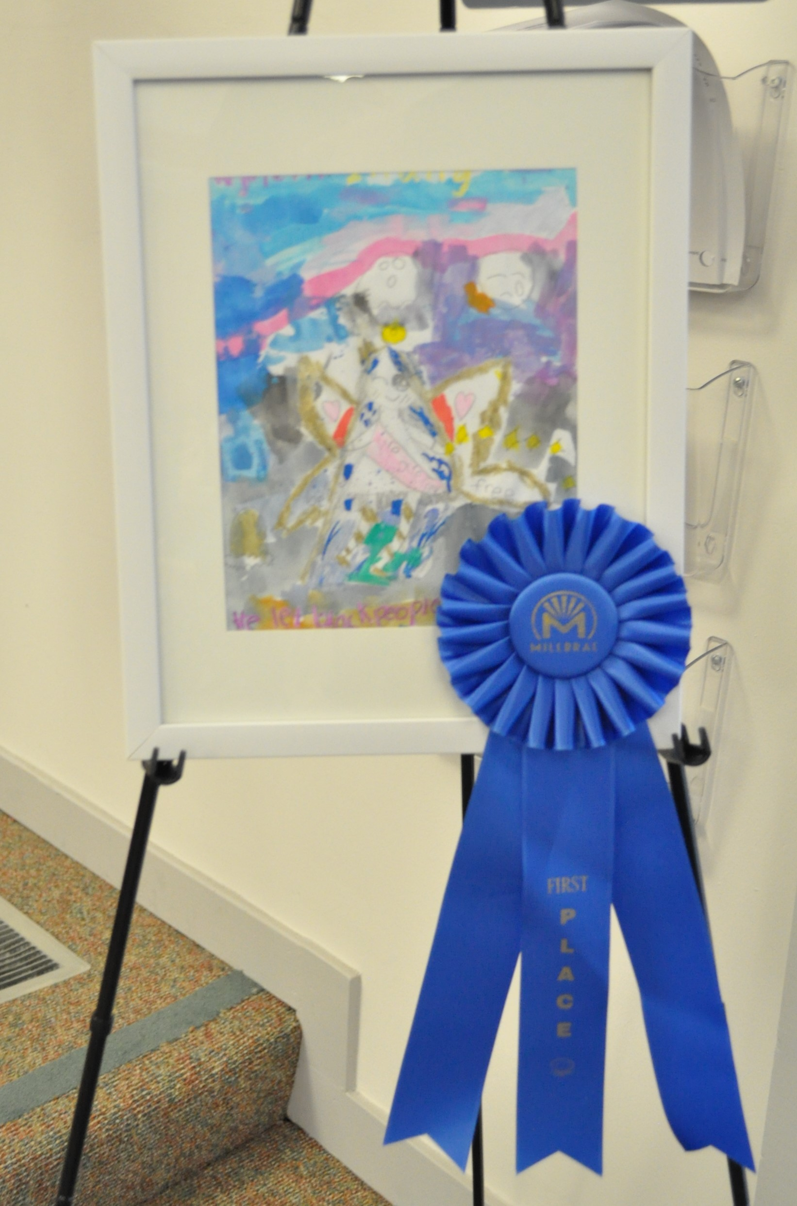 "Gyneth Zhang won first place in the grammar school category with her work of art titled ""The Angel: Dr. King."""