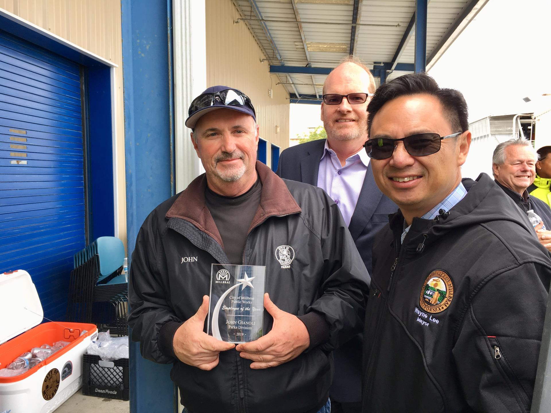 John Gianoli was named Public Works Employee of the Year