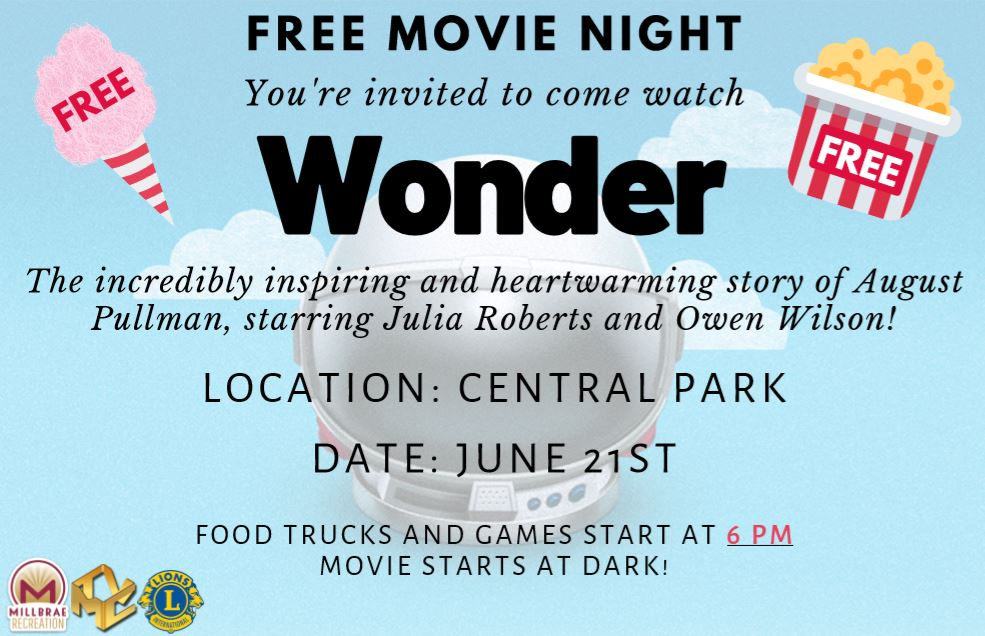 June 2019 Movie Night Flier - Wonder
