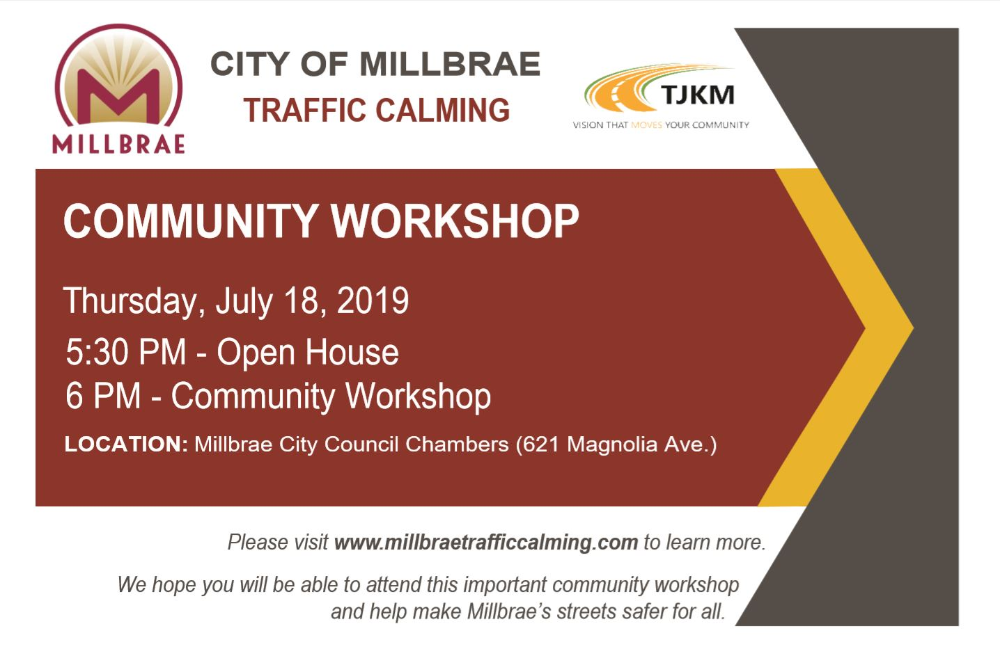 Traffic Calming Workshop Flier Front