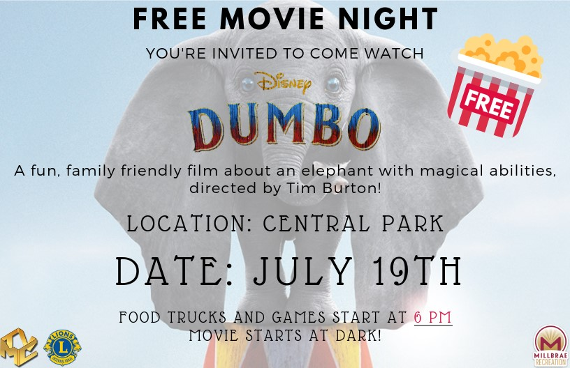 Millbrae Goes to the Movies Dumbo Flier