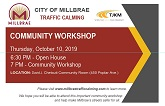 Second Traffic Calming Community Workshop on Oct. 10th