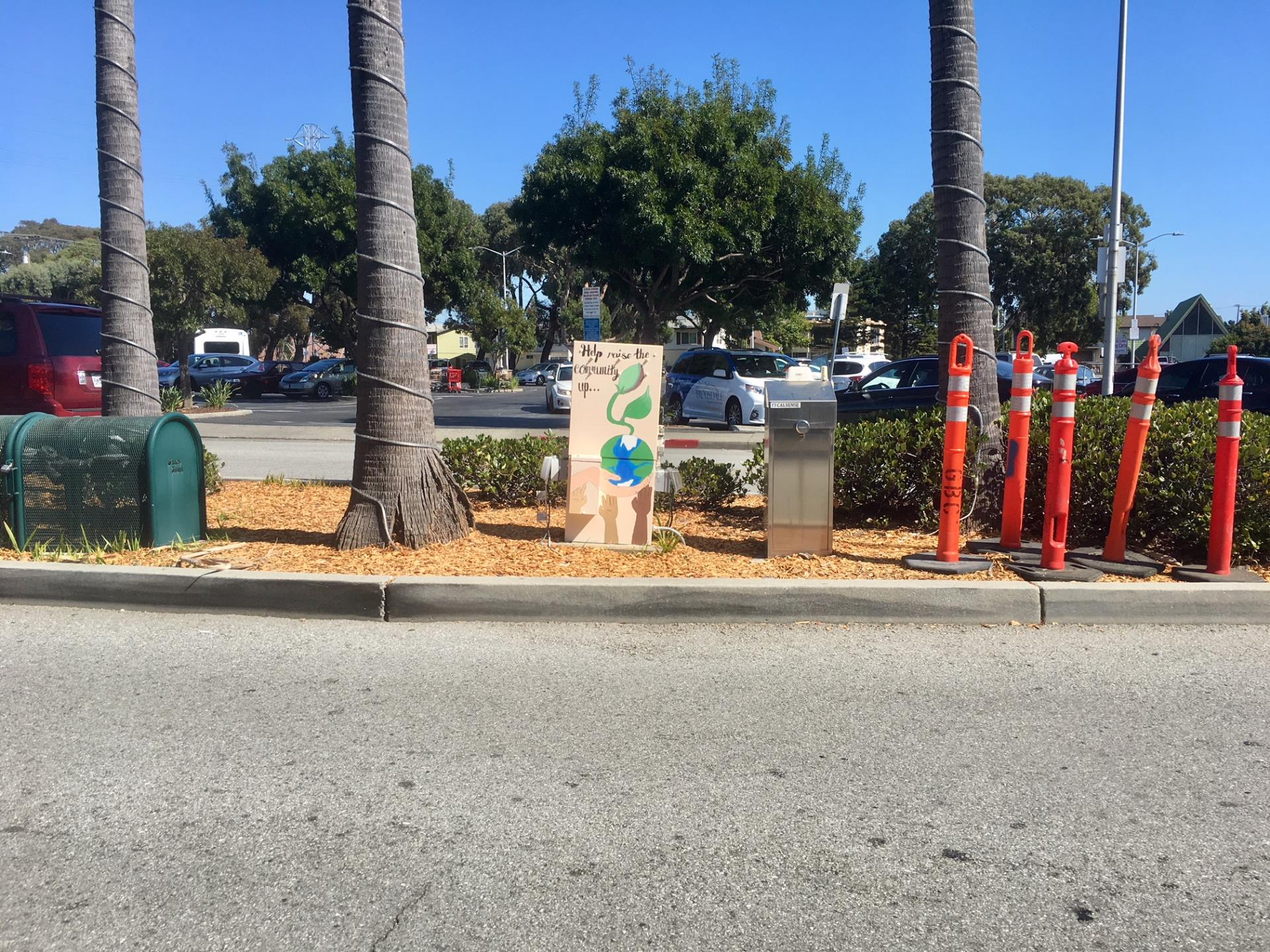 Cultural Arts Advisory Committee Utility Box Painting Project 1