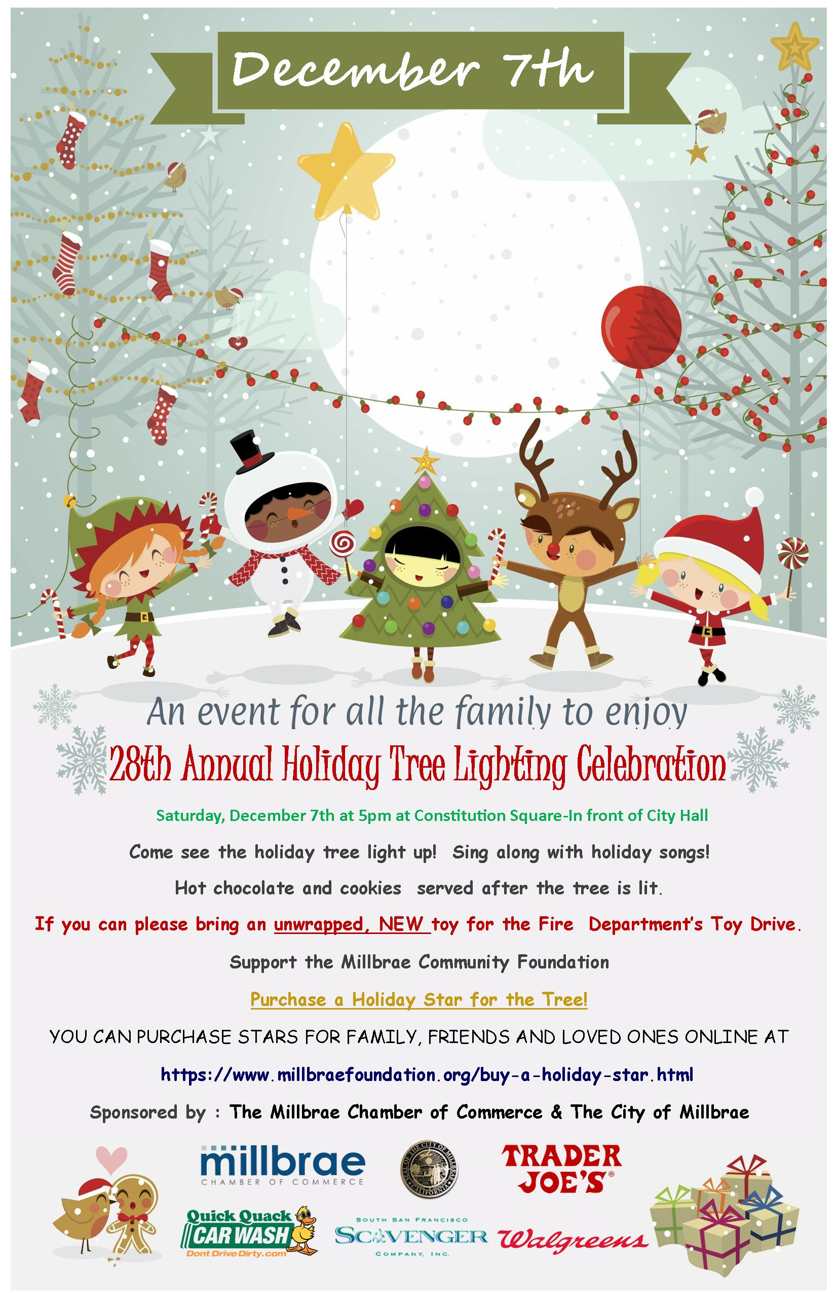 2019 Millbrae Holiday Tree Lighting