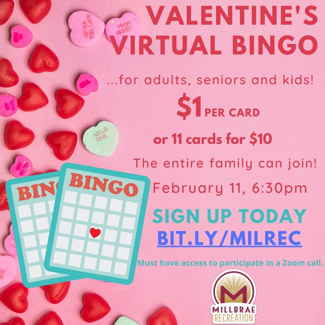 Valentine's Virtual Bingo